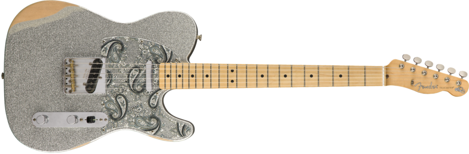 """Reliced"" Brad Paisley Road Worn Telecaster finished with Nitrocellulose Lacquer"