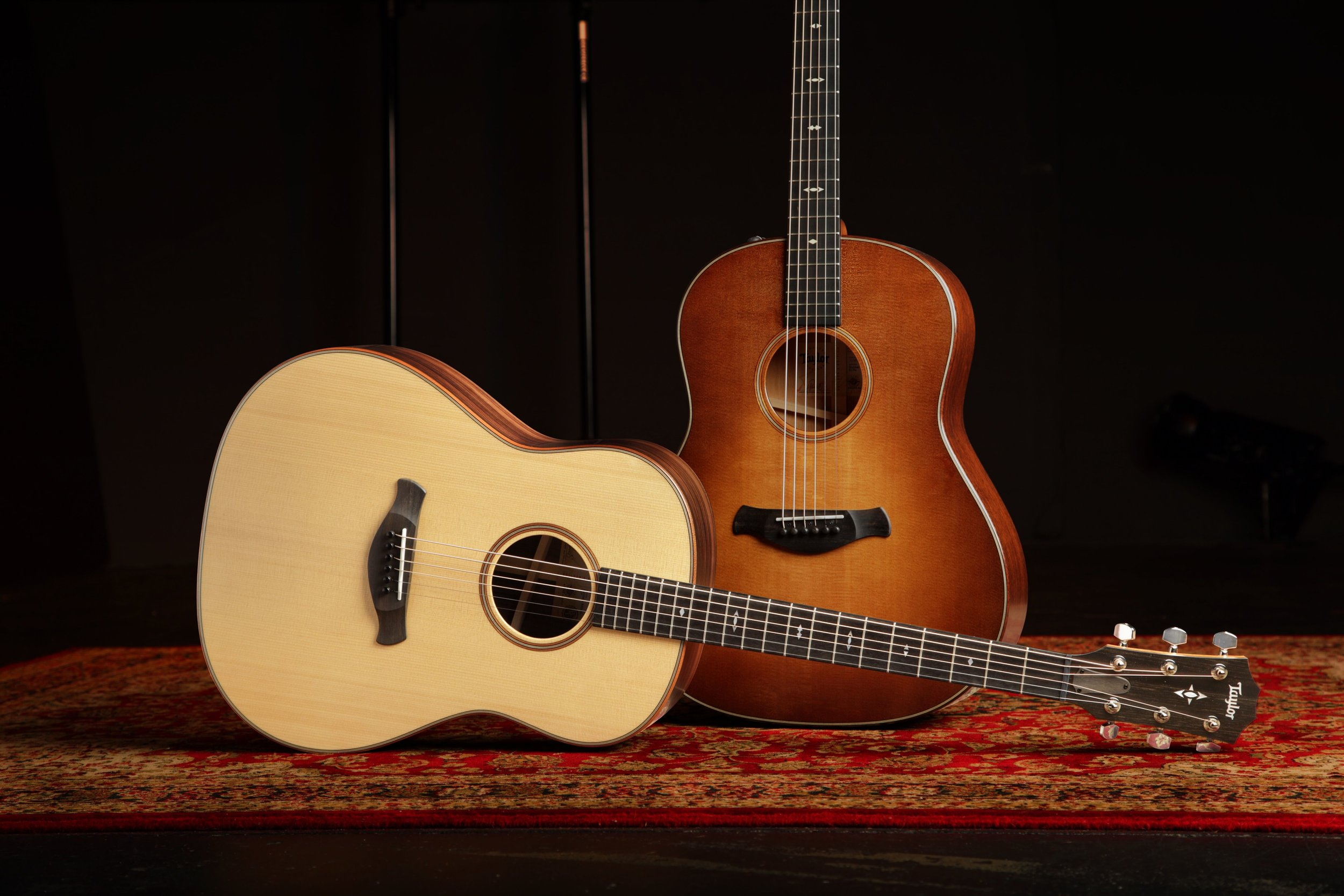 Taylor Grand Pacific Available in Natural & Wild Honey Burst (WHB)
