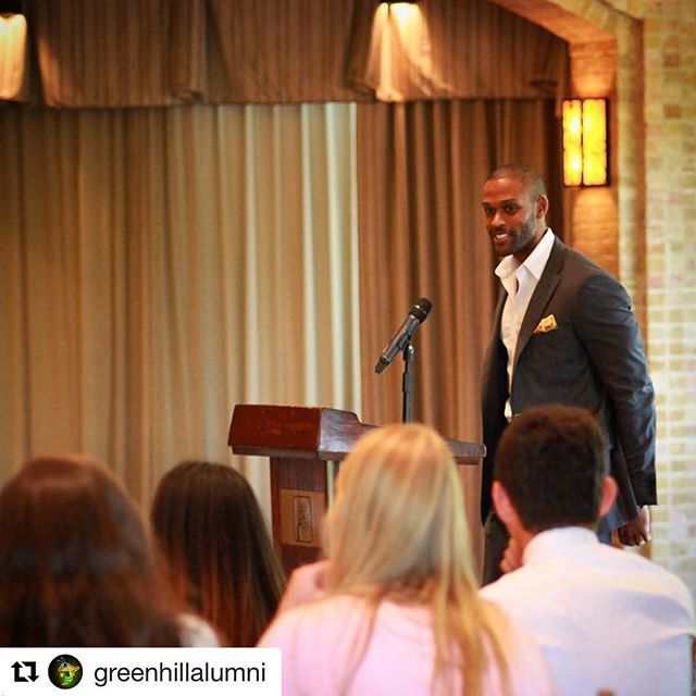 #Repost @greenhillalumni ・・・ Thank you @shawnleamon '05 for sharing words of wisdom with the class of 2017 at our annual Senior Luncheon today.