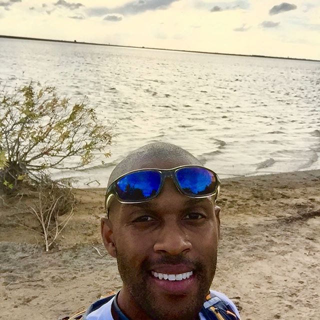 "9mi/14.5km birthday run to the ""beach"" in the Dallas 'burbs. 2nd selfie ever taken. True story."