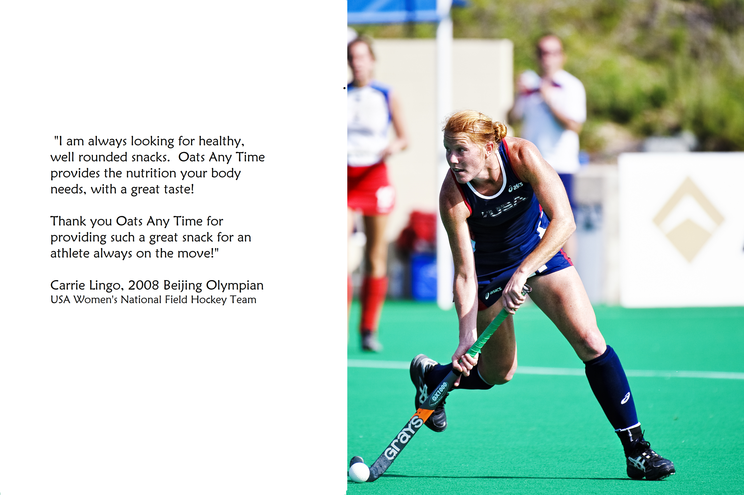 Carrie Lingo, 2008 Beijing Olympics USA Women's National Field Hockey Team