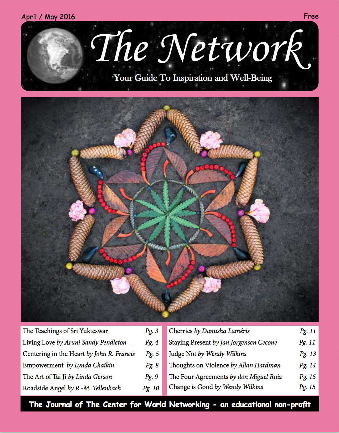 "The cover of ""The Network"" newsletter for their April/ May 2016 edition"