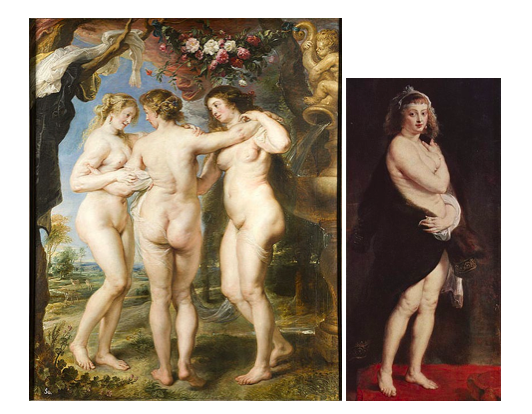 Ruben,  The Three Graces  (1635) and  Portrait of Helene Fourment  (1638)