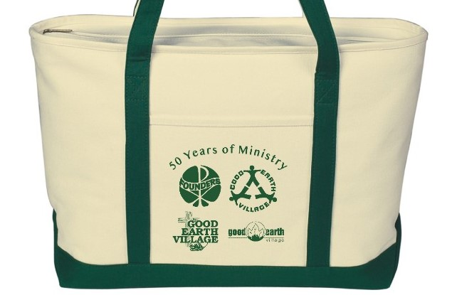 Item:  50 Years of Ministry Canvas Tote Bag  Price:  $25