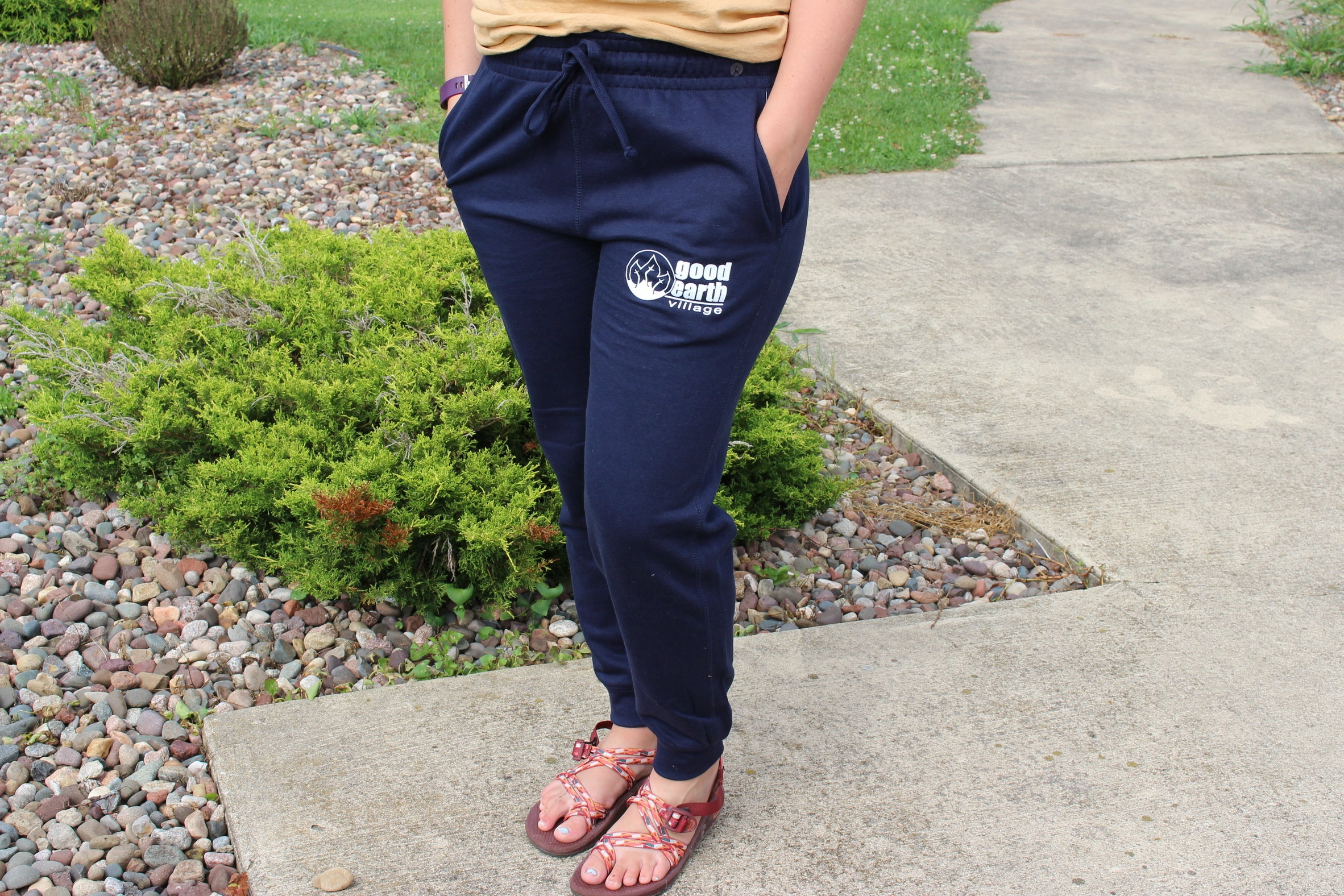 Item:  Jogger Sweatpants  Colors:  Navy and Graphite  Sizes:  Adult X-Small - 2X-Large  Price:  $25