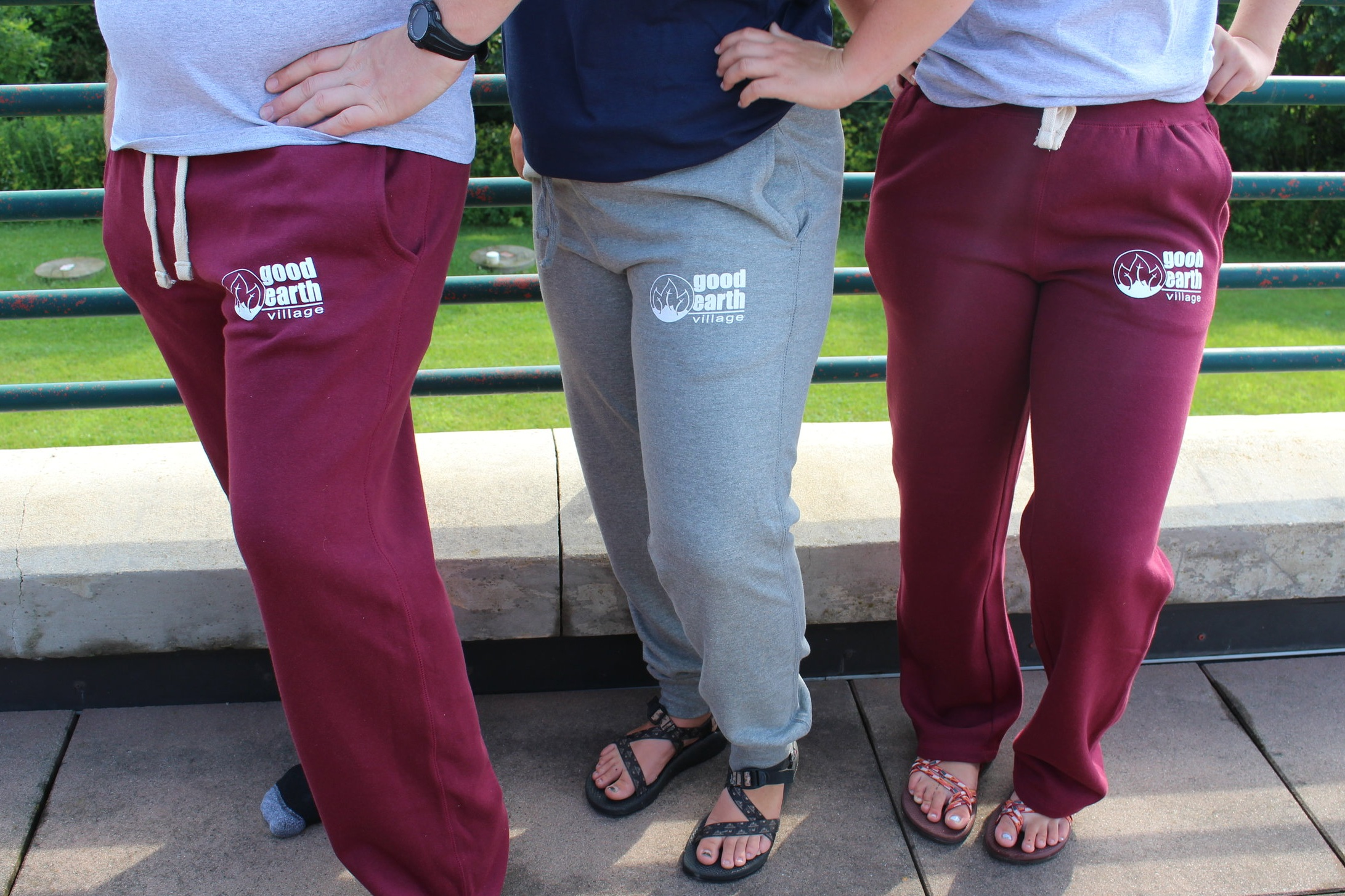 Item:  Maroon Open Bottom Sweatpants  Sizes:  Adult Small - 2X-Large  Price:  $25