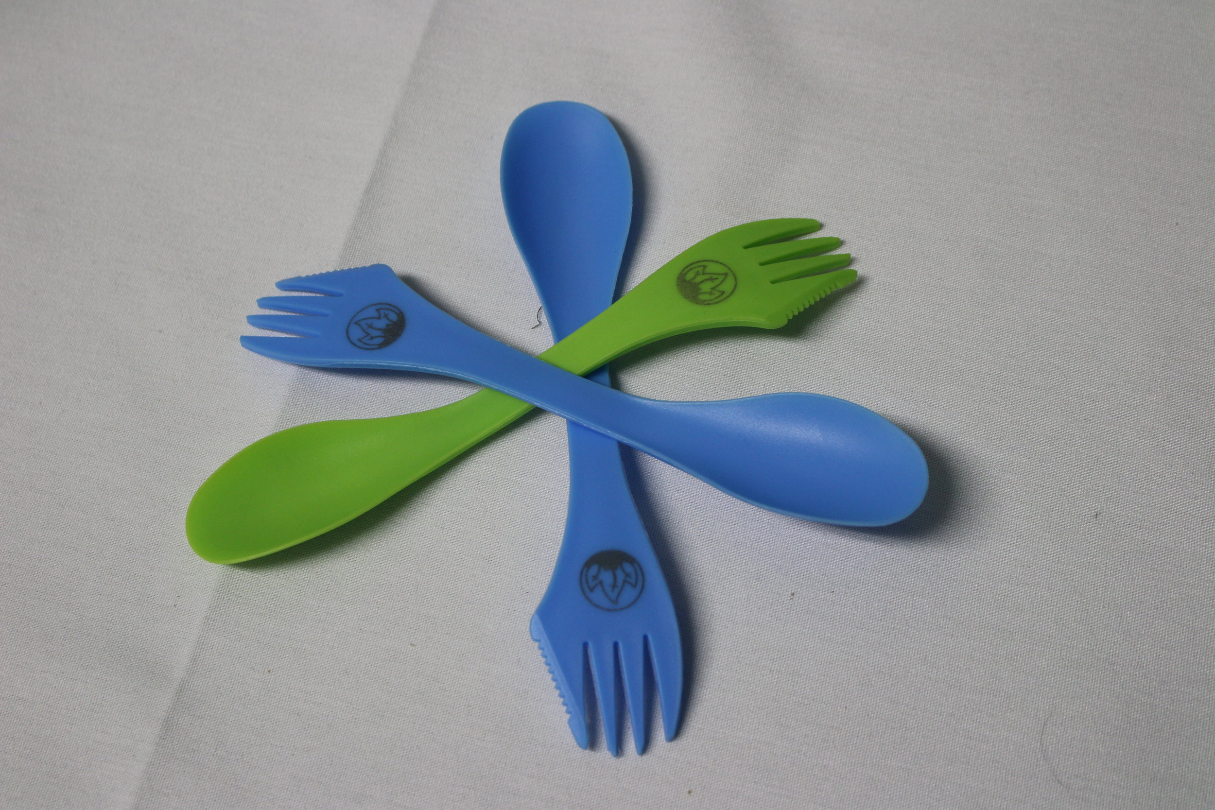 Item:  Good Earth Village Spork  Colors:  Green and Blue  Price:  $2