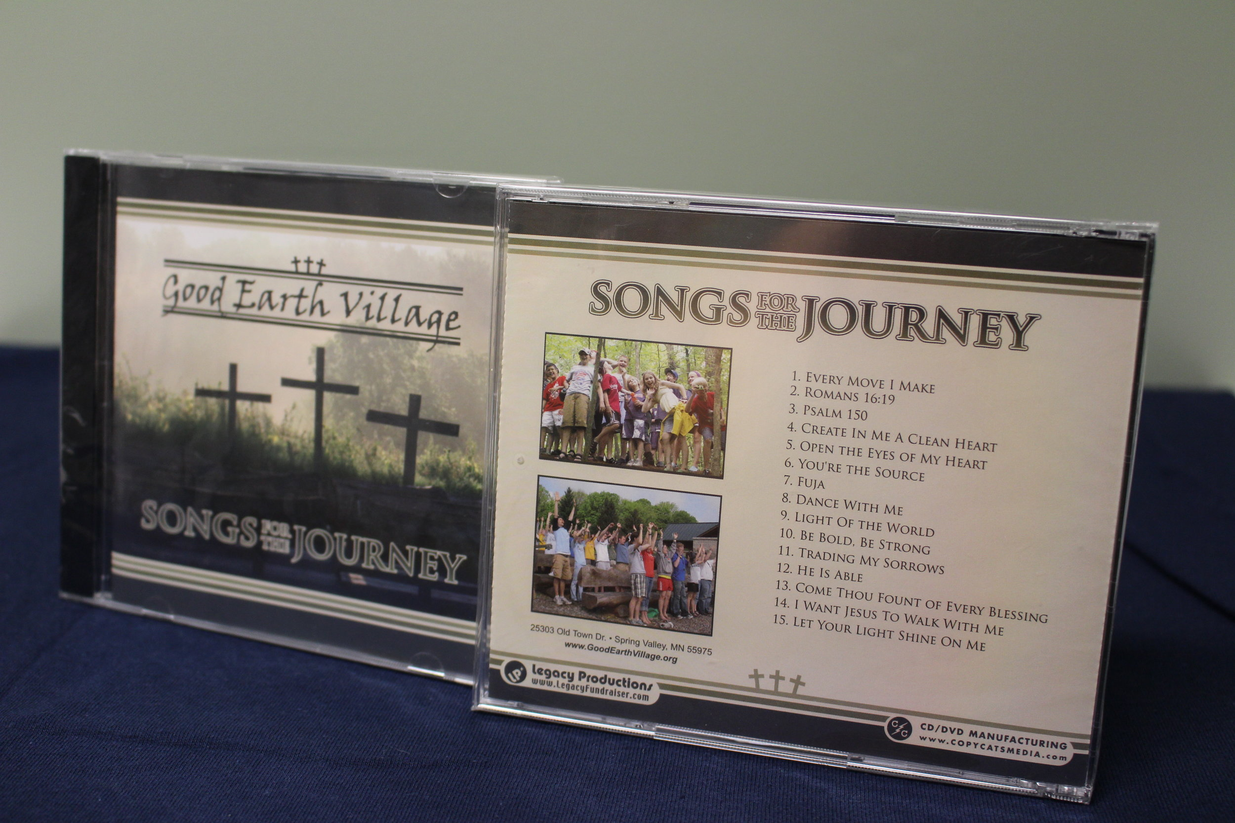 Item:  Songs for the Journey CD, Recorded 2008  Songs Include:  Romans 16:19, Fuja, Every Move I Make, Light of the World, Psalm 150, Be Bold Be Brave plus many more!  Price:  $5