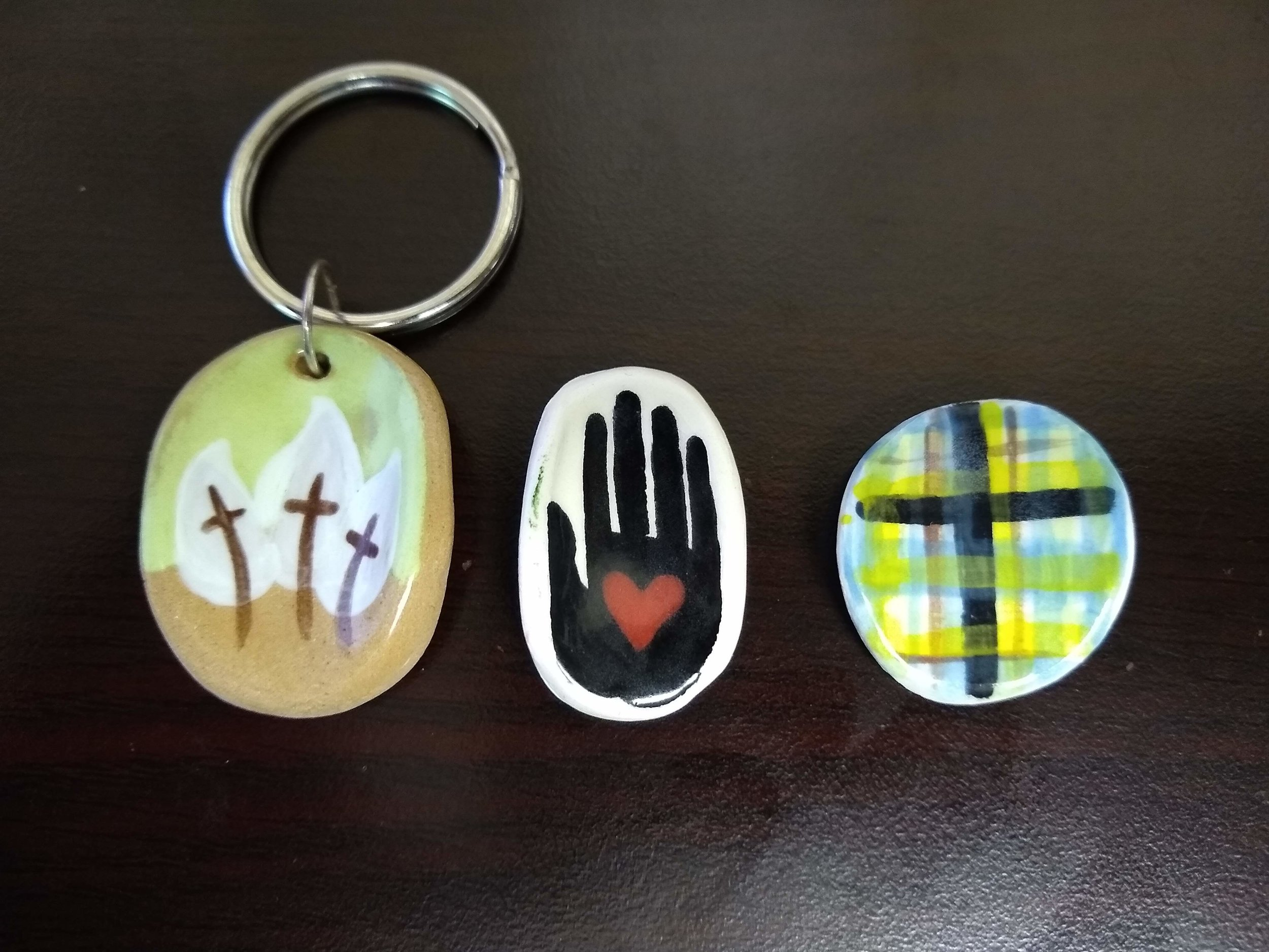 Item:  Pray Pebbles  Designs:  GEV Logo, BeLoved, Stories Woven  Price:  Suggested Donation of $4
