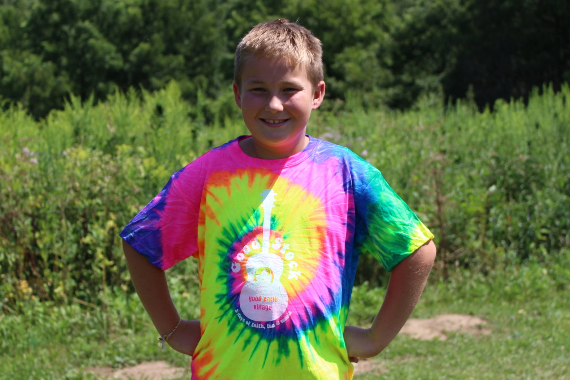Item:  GoodStock Rainbow Tie-Dye T-Shirt  Sizes:  Youth Small - Youth Large  Price:  $20