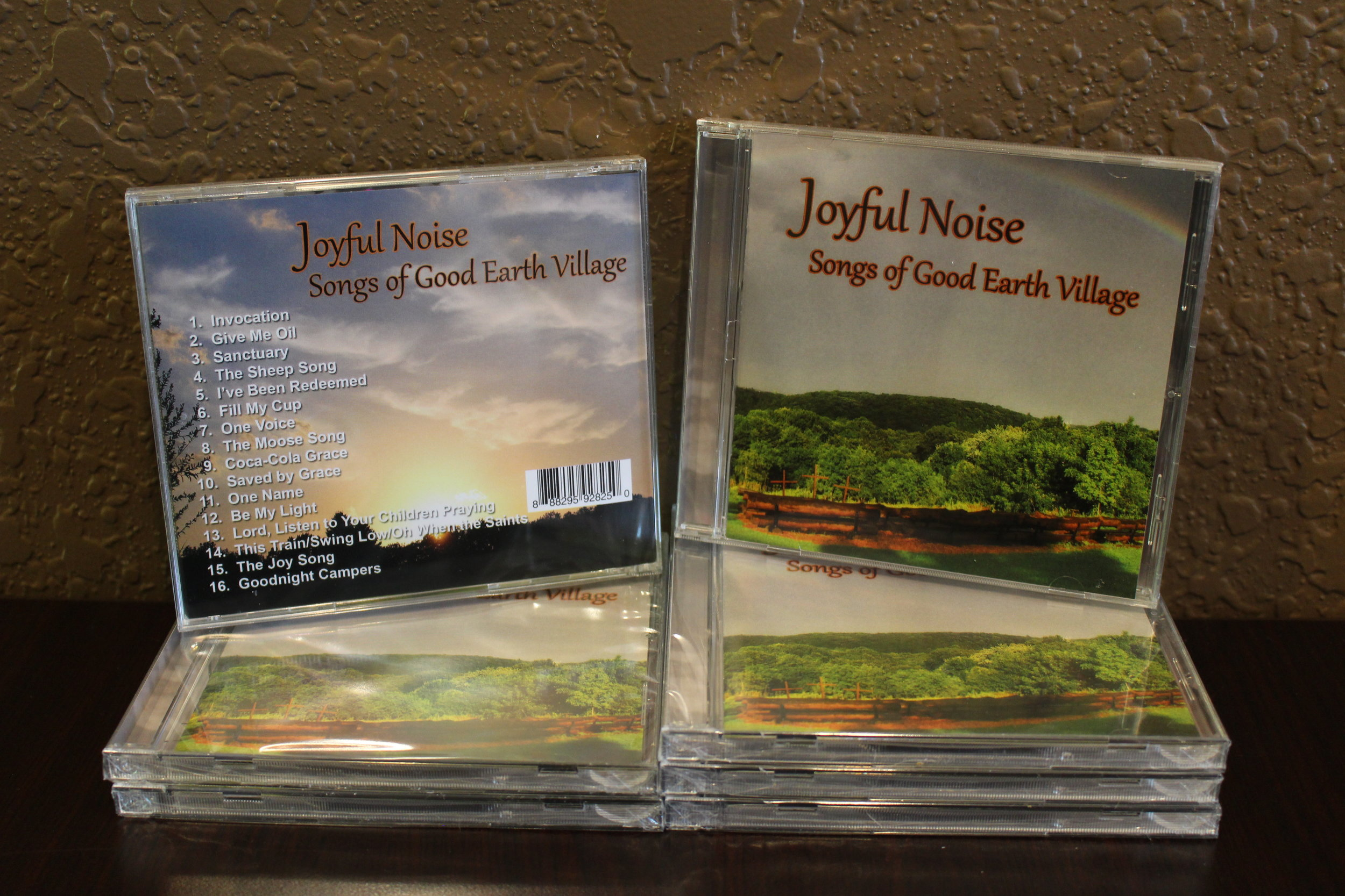 Item:  Joyful Noise CD, Recorded 2019  Songs Include:  JOY Song, One Voice, Give Me Oil, The Sheep Song, Sanctuary, Moose Song, This Train, Be My Light and many more!  Price:  $15