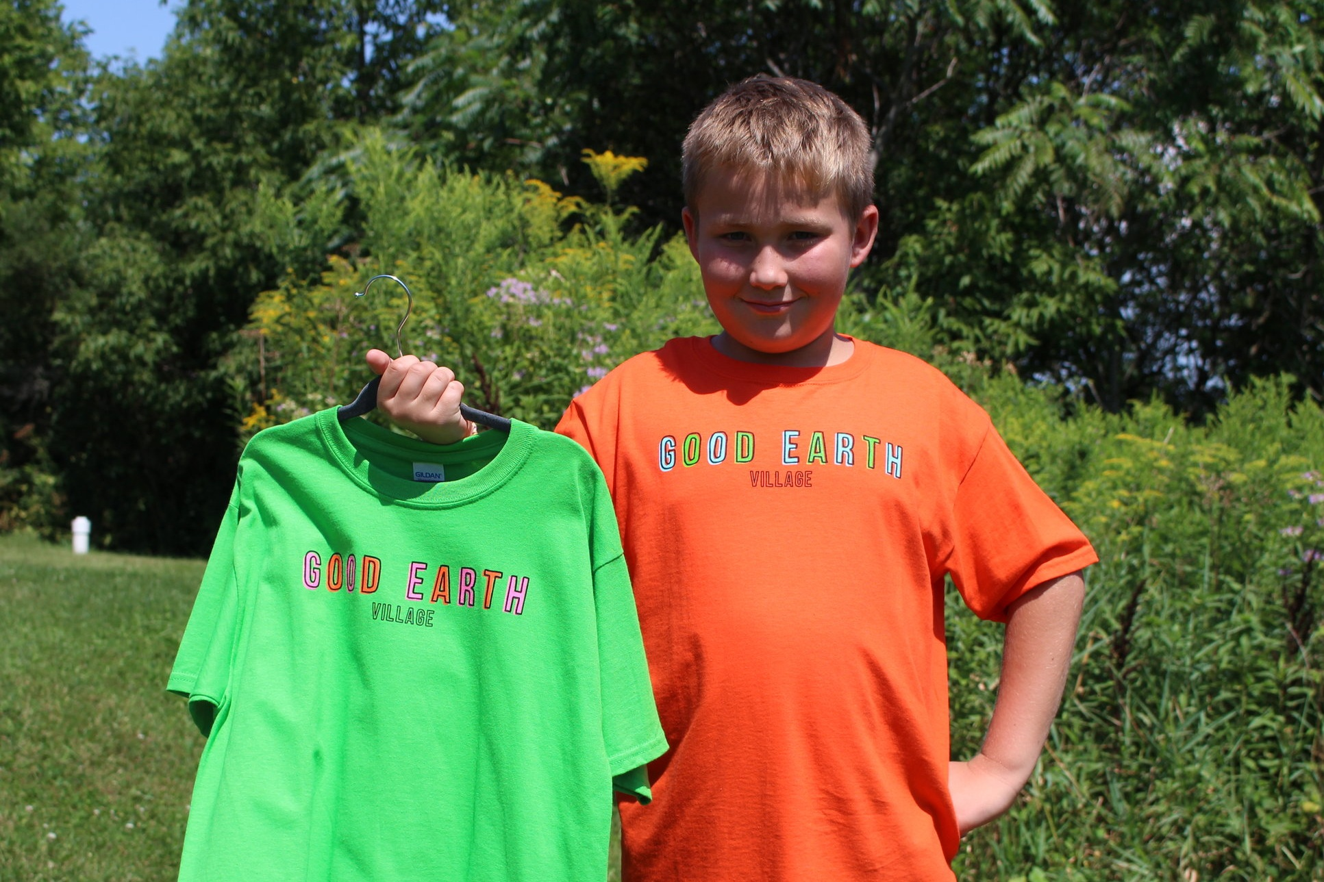 Item:  Thin Line T-Shirt  Colors:  Lime and Orange  Sizes:  Youth Small - Youth Large  Price:  $15