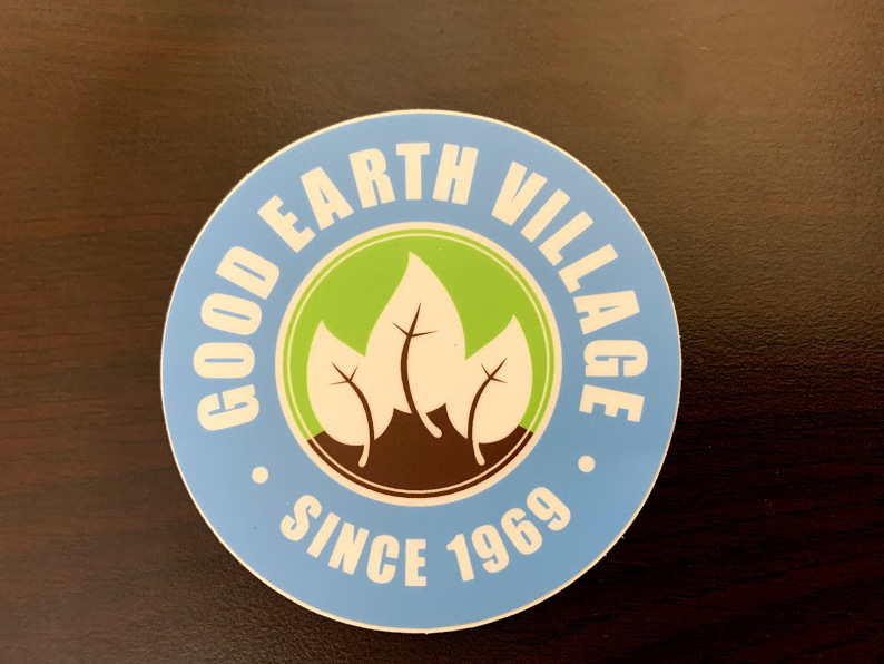 Item:  Good Earth Village Sticker   Price:  $4