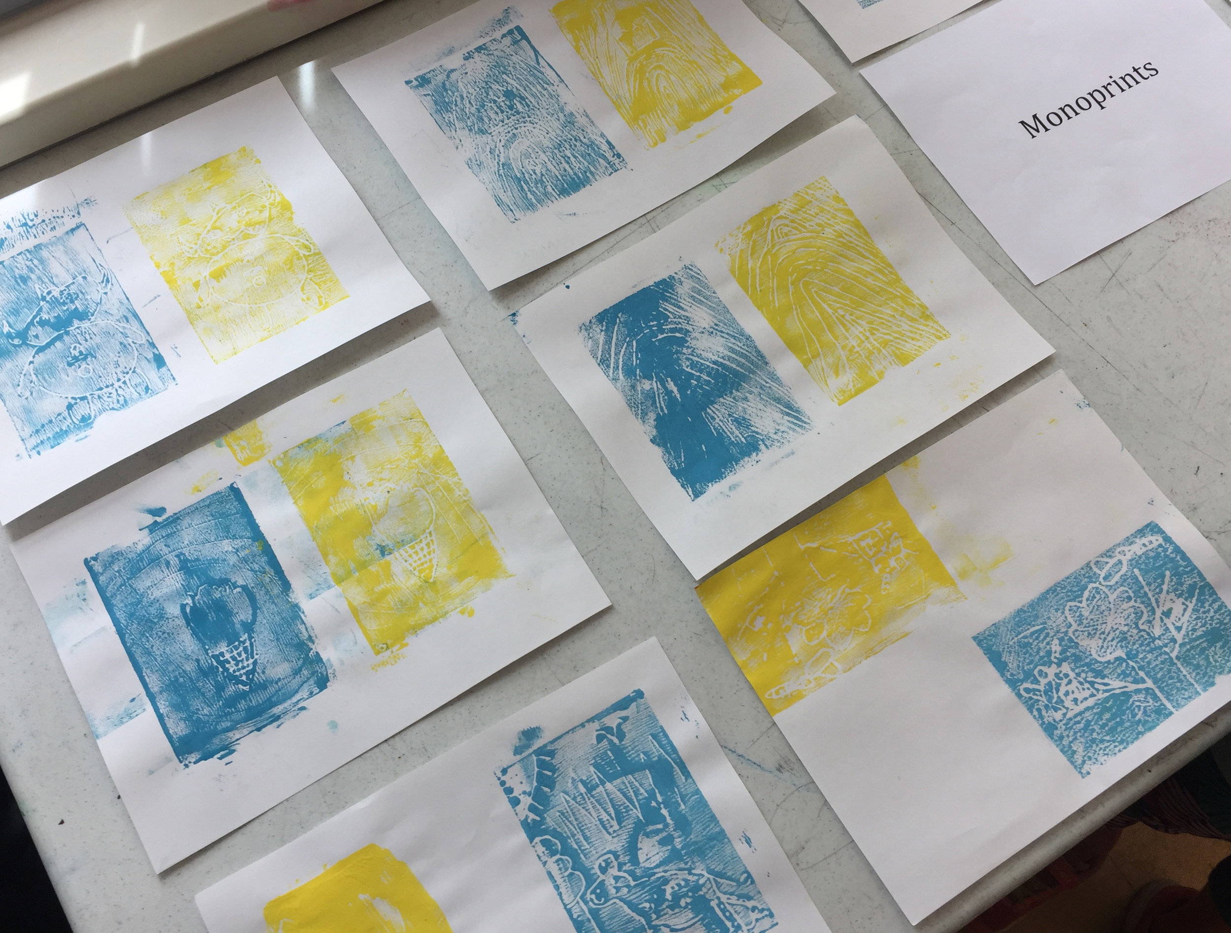 Blue and Yellow Monoprints.jpg