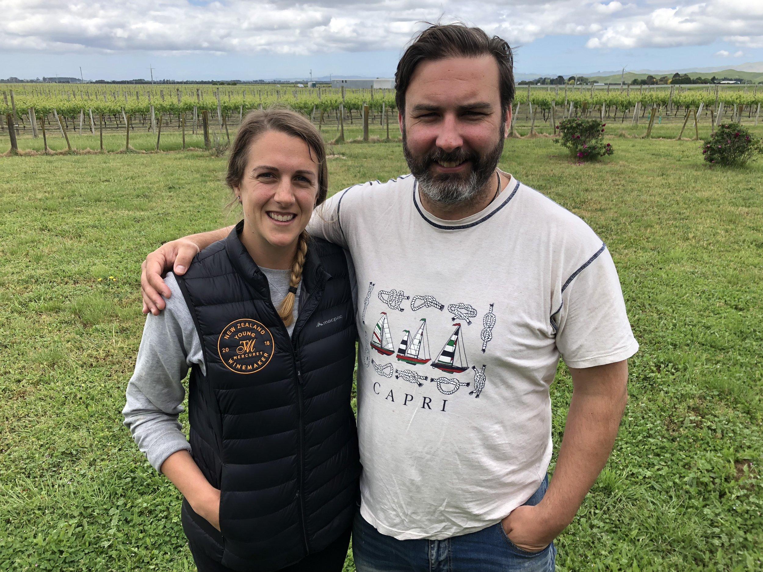 Daniel with Haidee on the vineyard