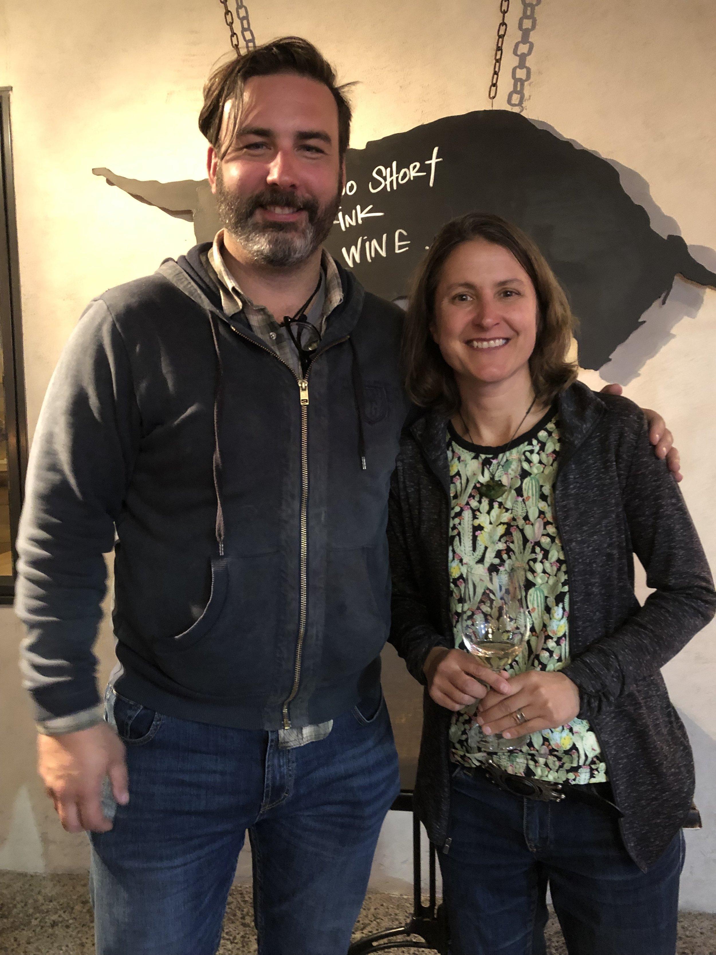 Daniel with Valli Winemaker, Jen Parr