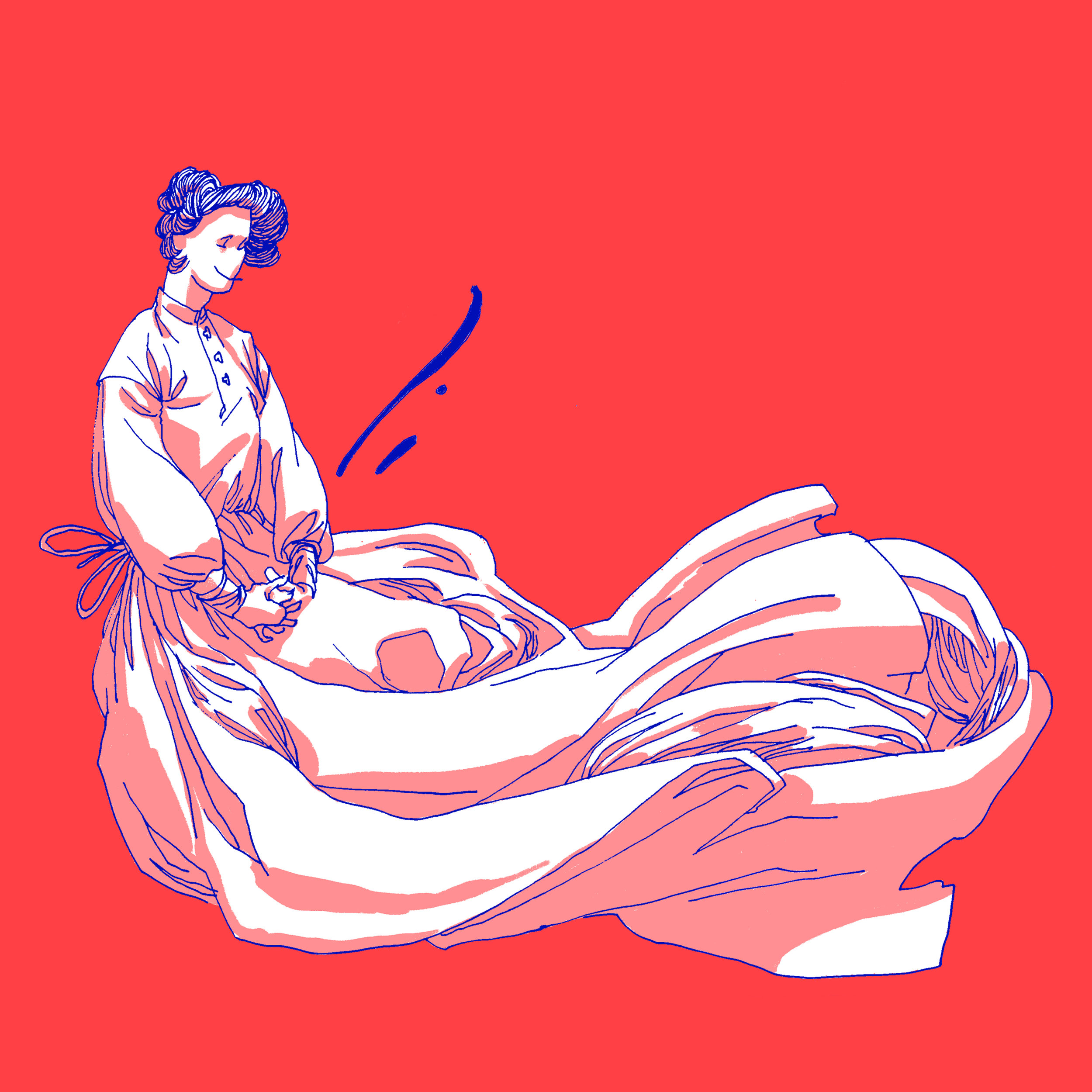 Illustration for group release risograph prints to raise funds for donation to Access Reproductive Care.