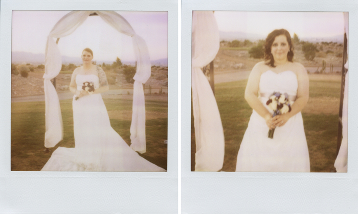 same sex marriage Las Vegas wedding polaroid