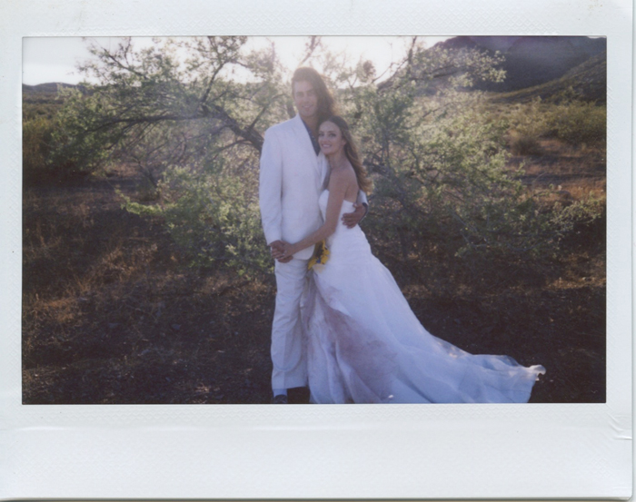 las vegas simple desert outdoor wedding photographer polaroid