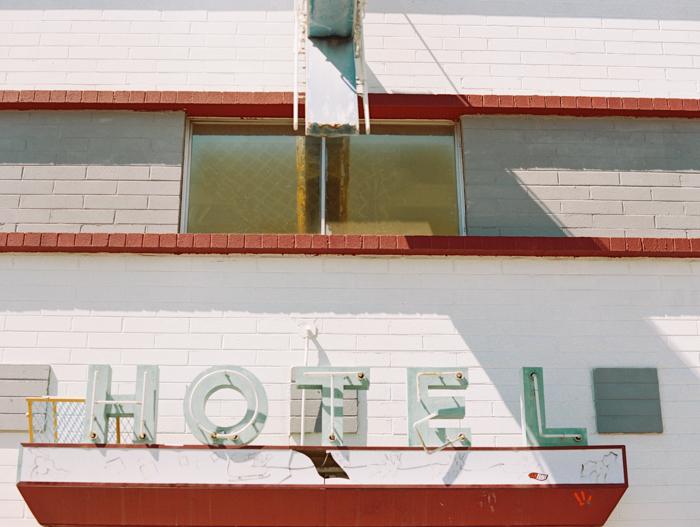 vintage hotel sign las vegas photo