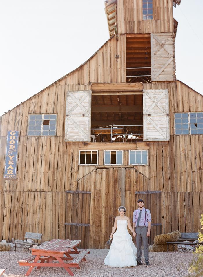 nelson landing ghost town rustic vegas wedding 12