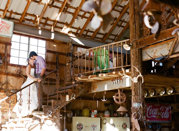 nelson landing ghost town rustic vegas wedding 13