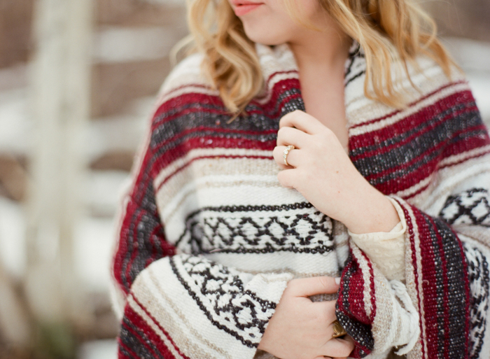 mexican blanket winter engagement ideas