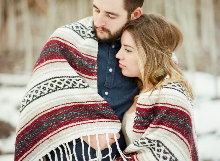 mexican blanket woodsy engagement ideas