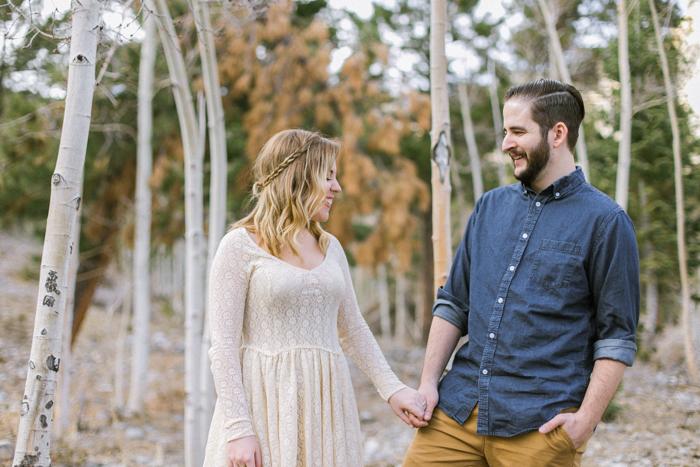 jordan and matt woodsy engagement session