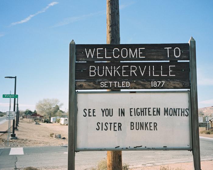 bunkerville nevada desert on film