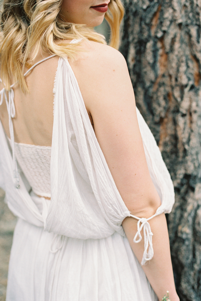 boho free people engagement dress