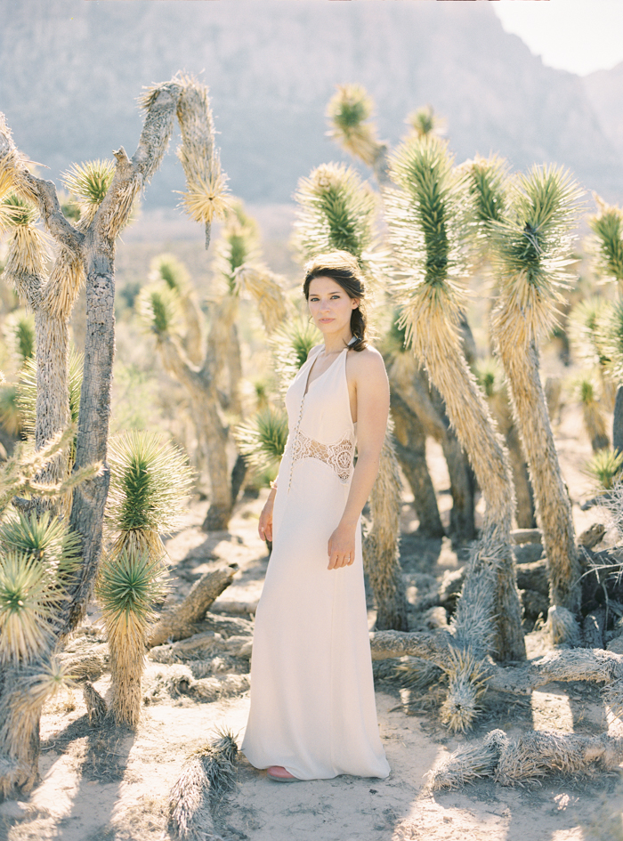 joshua tree boho engagement photo