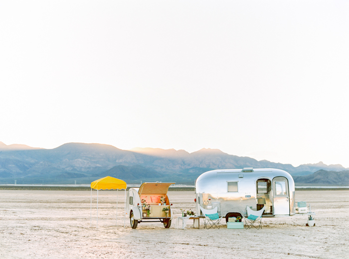 airstream teardrop trailer wedding prop las vegas desert