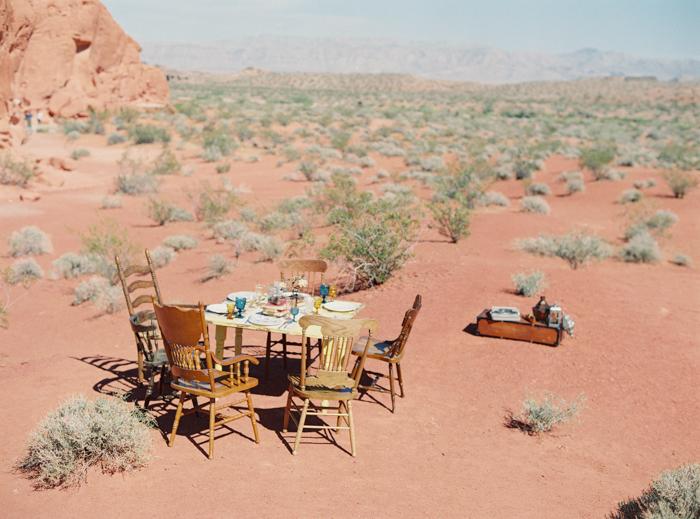 outdoor desert boho wedding ideas valley of fire
