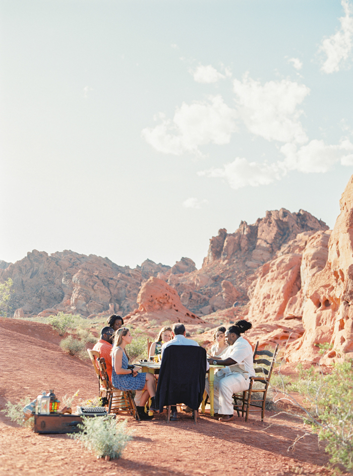 intimate reception in the desert