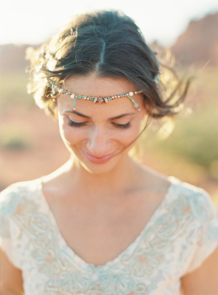 desert boho beaded wedding crown