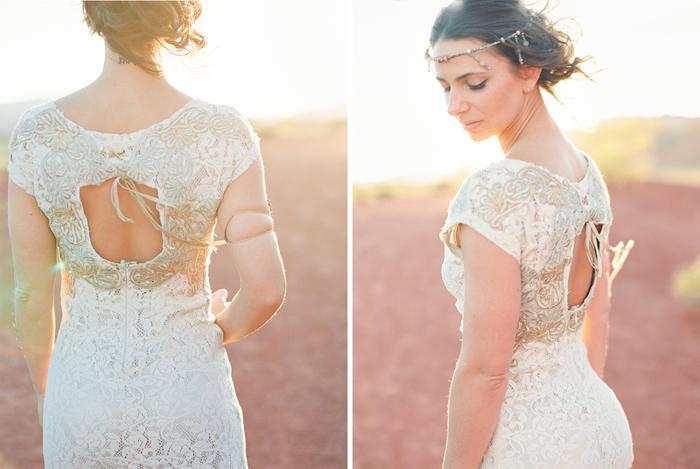 desert boho wedding dress