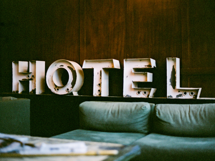 hotel sign in ace hotel portland