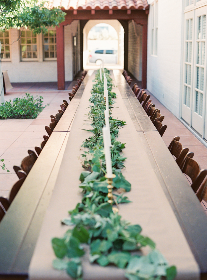 las vegas boho wedding greenery table runner ideas