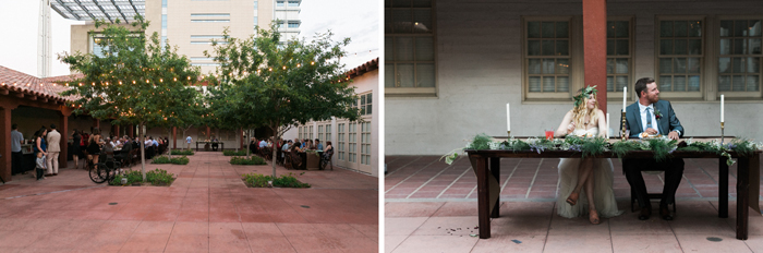 las vegas wedding with boho details historic fifth street school