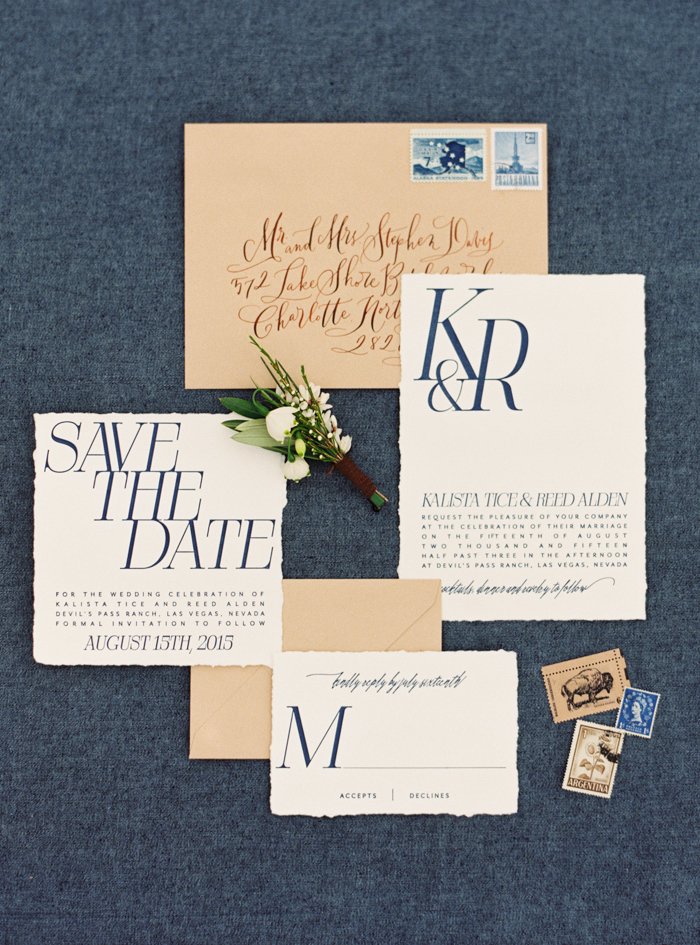 desert and indigo inspired valley of fire wedding save the dates