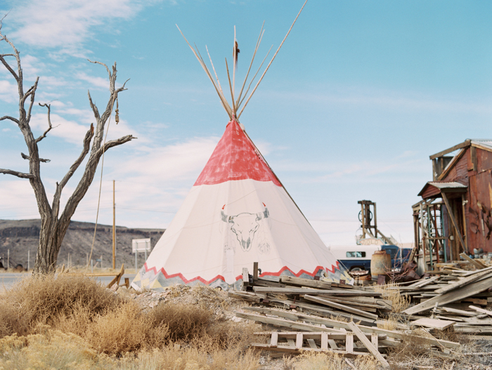 cowskull and teepee desert nv gaby j photo