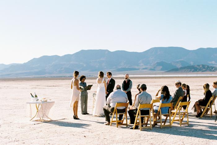 intimate indie desert vegas wedding photo 6