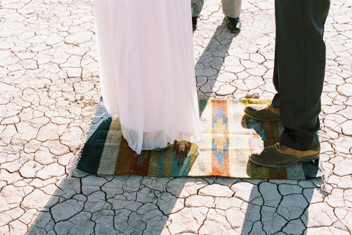 intimate indie desert vegas wedding photo 12