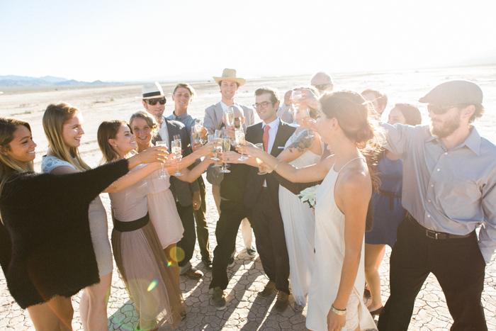 intimate indie desert vegas wedding photo 22