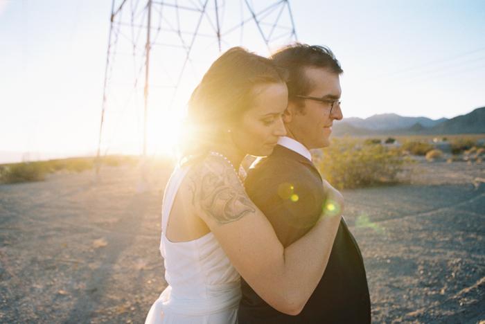 intimate indie desert vegas wedding photo 27