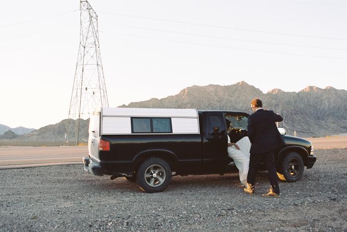 intimate indie desert vegas wedding photo 52