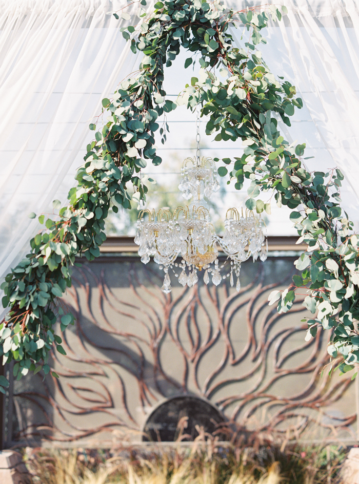 eucalyptus wedding garland photo