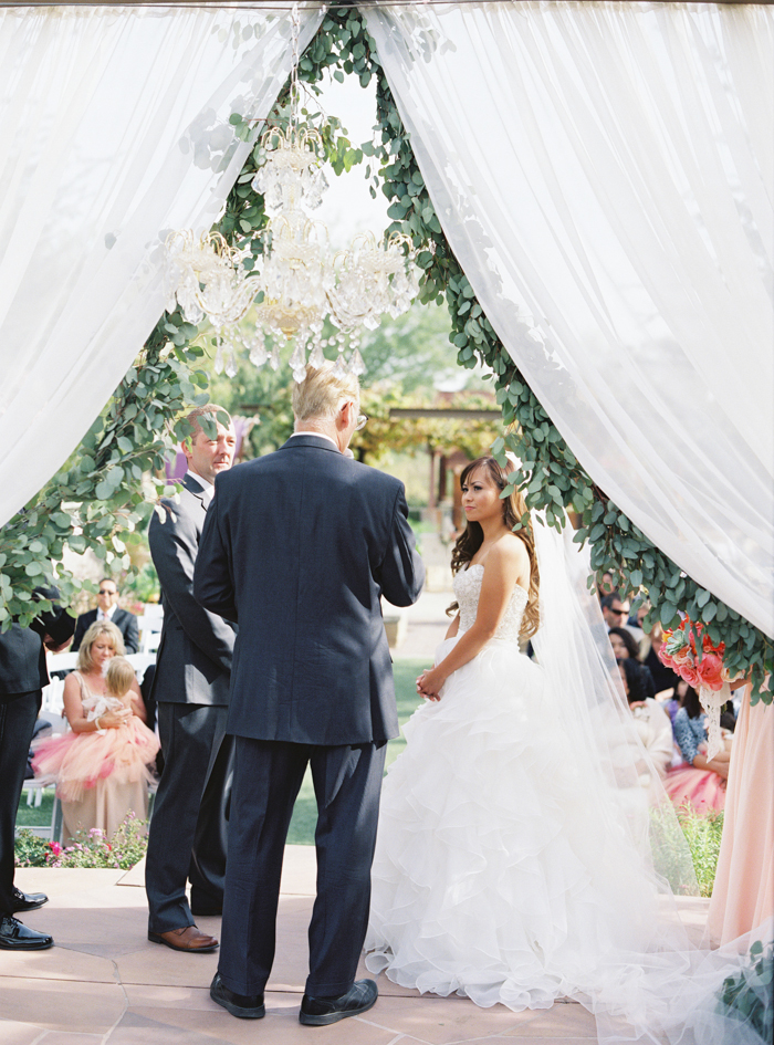 eucalyptus wedding ceremony garland photo