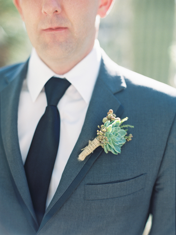 desert inspired boutonniere by Layers of Lovely
